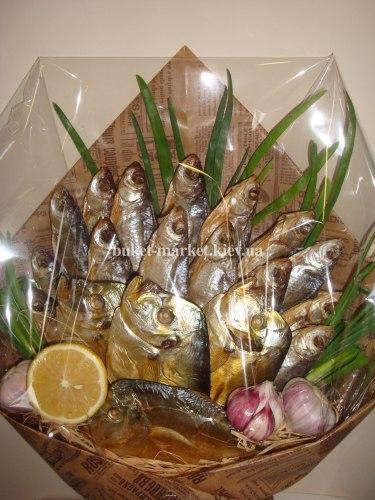 "Букет из рыбы ""Счастье рыбака"""