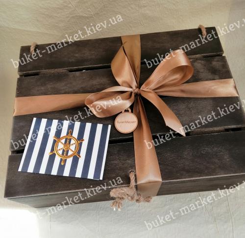 Большой подарочный набор для мужчины (сундук с крышкой) №201