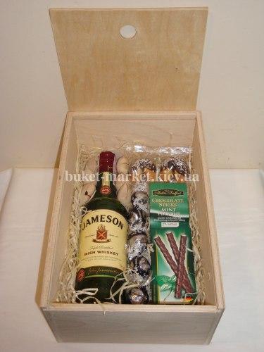 Коробка с алкоголем в подарок (коробка с крышкой) №209