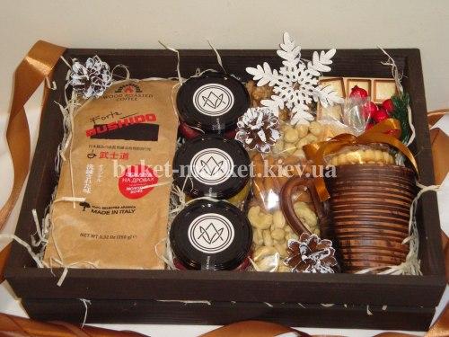 Подарочный набор с кофе (ящик без крышки) №212