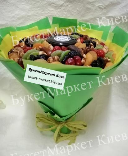 """Букет из сухофруктов с медом """"Медовый"""", Ø27 см"""