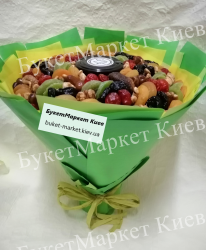 """Букет сухофруктов с медом """"Медовый"""", Ø27 см"""