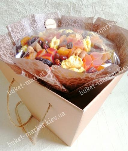 Букет из сухофруктов для мужчин и женщин, Ø27 см