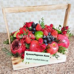 Букет из фруктов и цветов №332