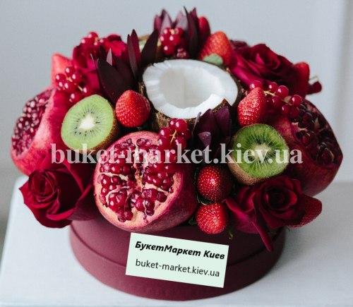"""Коробка с фруктами и цветами """"Серена"""" №334"""