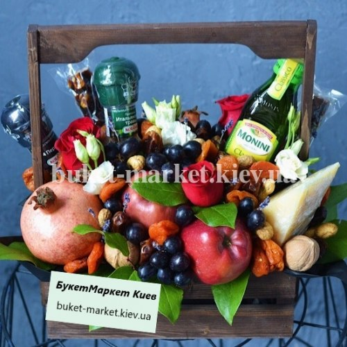 """Букет из фруктов и цветов """"Пряная Италия"""" №335"""