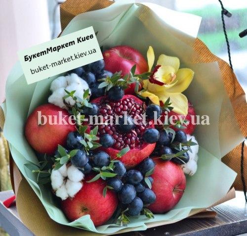 """Букет из фруктов и цветов """"Вернисаж"""" №337"""