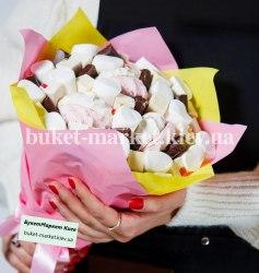 Сладкий букет с шоколадом №368, Ø27 см.