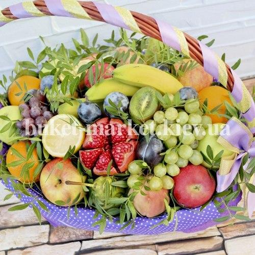 Большой фруктовый букет в корзине №373