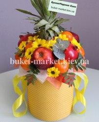 Букет с ананасом в коробке №377