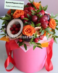 Фруктовый букет с кокосом №379