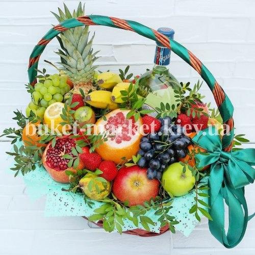 Большой букет из фруктов в корзине №380