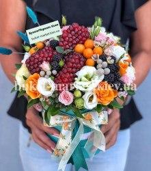 Коробка с цветами и ягодами, Ø18-25 см., №393