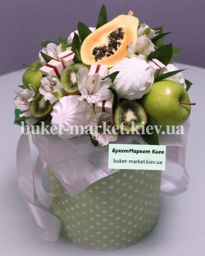 Желто-зеленый фруктовый букет, Ø20-25 см., №398