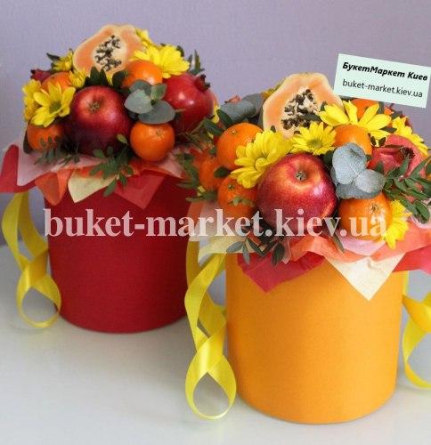 Букет с фруктами в коробке, Ø20-25 см., №399
