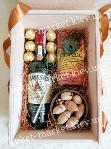 Подарок мужской с виски (пенал с крышкой) №229
