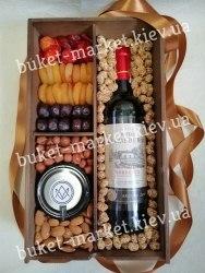"""Подарочный набор для мужчин с вином """"Кардинал"""" (пенал с крышкой) №238/1"""