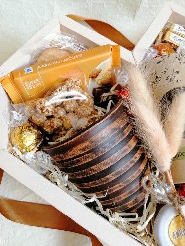 Коробка подарок женщине (ящик без крышки) №241