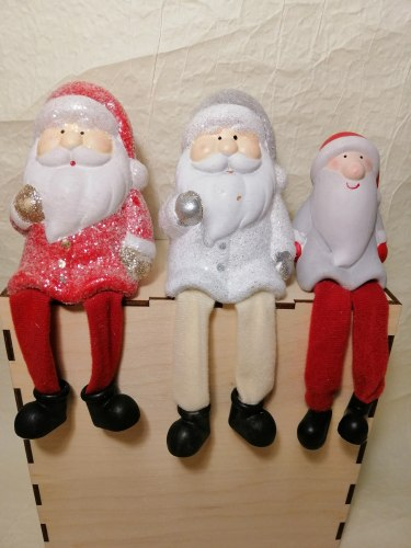 Статуэтка Дед Мороз серый