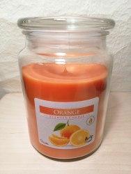 """Большая ароматизированная свеча в стекле """"Апельсин"""""""