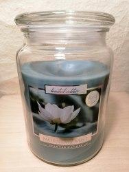 """Большая ароматизированная свеча в стекле """"Лотос"""""""