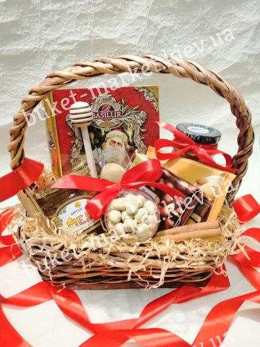 Новогодний подарок с чаем и медом №457