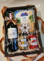 Вкусный новогодний подарок с вином №475
