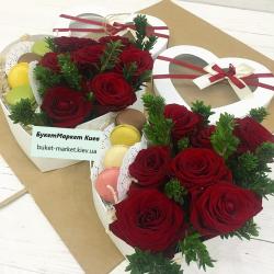 Сердечко с розами на 14 февраля №483