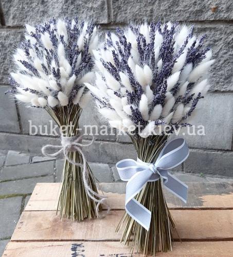 Подарок с сухоцветами и лавандой №658