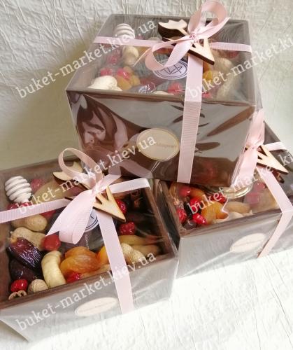 Стильная коробочка с сухофруктами и медом №518