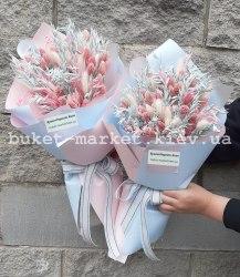 Нежный букет сухоцветов с колосьями №660