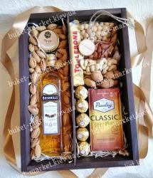 Подарок мужчине с орехами и кофе №527