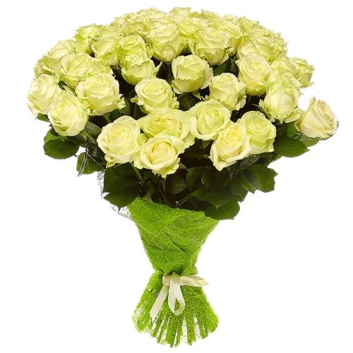 Букет из белых роз (35 шт./80 см.)