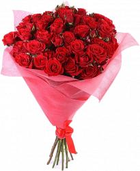Букет кустовых роз Мирабель (15шт./70-80см.)