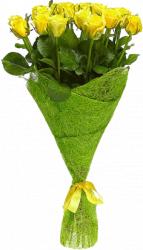 Букет из желтых роз (21шт./70см.)