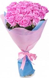 Букет роз Аква (25 шт./70 см.)