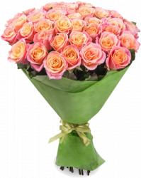 Букет кремовых роз Мисс Пигги (45шт./60 см)