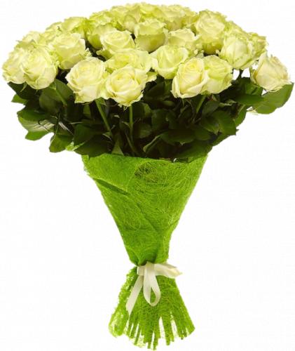 Букет белых роз (51шт./60 см.)