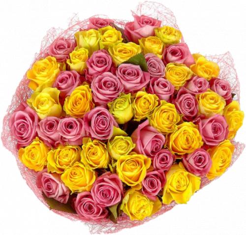 Злата (розы: 51 шт./60 см.)