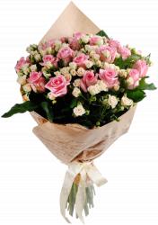 Букет розовых роз (41 шт./70 см.)