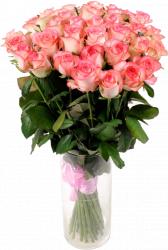 Букет из розовых роз (35 шт./70 см.)