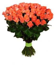 Букет оранжевых роз Вау (35 шт./60 см.)