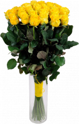 Букет из 35 желтых роз (35 шт./60 см.)