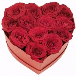 Сердце из красных роз «Говорю - люблю» (Ø20 см.)