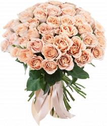 Букет из роз сорта Cappucino (19, 25, 51, 75 или 101 шт./60 см.)