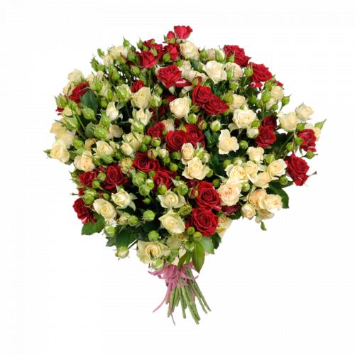 Букет из роз спрей (19 шт./70 см.)