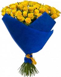 Букет из 51 желтой розы (Сорт: Пенни Лейн, 60 см)