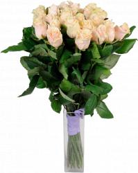 Букет из кремовых роз Талея 25 шт, 70 см