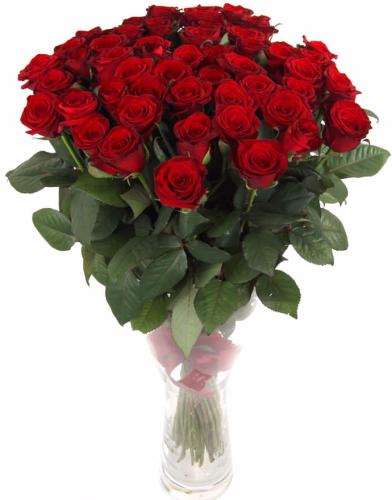 Букет из красных роз Гран При 51 шт, 80 см