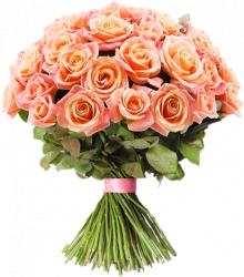 Букет из розовых роз Мисс Пигги 60 см – 51 шт.